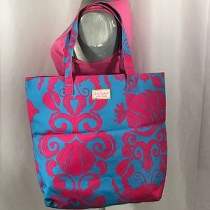 💕PINK&BLUE LILLY PULITZER ESTEE LAUDER TOTE BAG💕